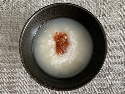 矯正 食事 韓国風カムチミ梅粥